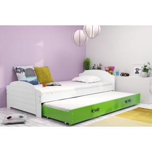 Łóżko wysuwane  2 osobowe LILI 200 x 90 cm białe