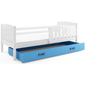 Łóżko Jednoosobowe KUBUŚ Z Szufladą 160x80 Biały