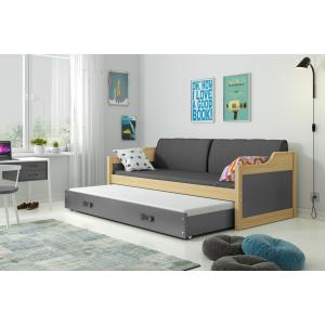 Łóżko Dwuosobowe Wysuwane DAWID 190x80 Sosna