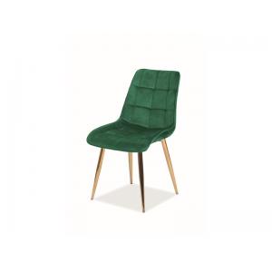 Krzesło Chic Velvet złoty stelaż  Signal