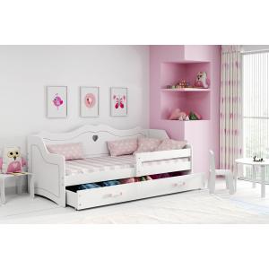 Łóżko Jednoosobowe Dziecięce JULIA 160x80 Biały