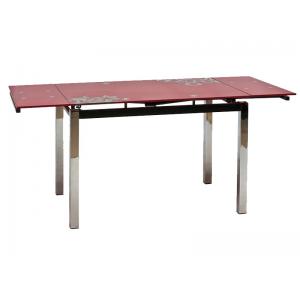 Stół GD-017 110(170)x74 - Czerwony