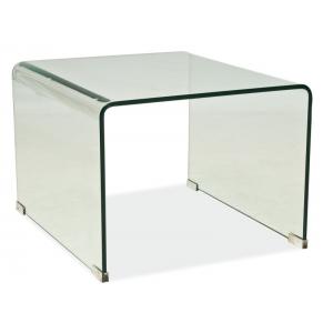 Stolik mały Priam B  58x49 szkło