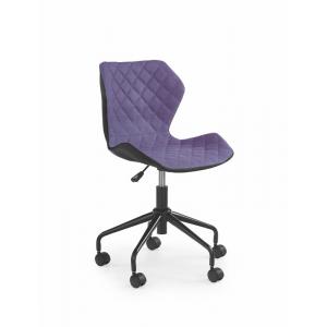 Fotel młodzieżowy MATRIX czarno- fioletowy Halmar