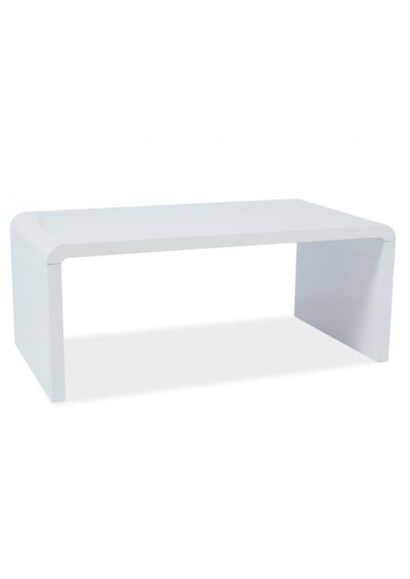 Ława Mio biała lakierowana, stolik