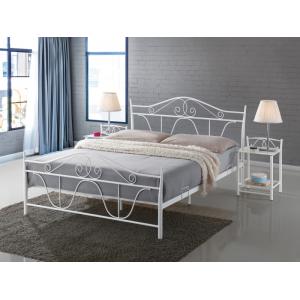 Łóżko Denver białe Signal