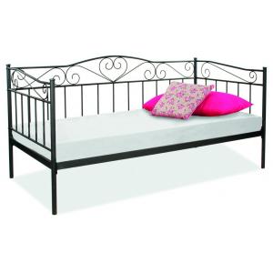 Łóżko Birma 90x200 białe - Czarny