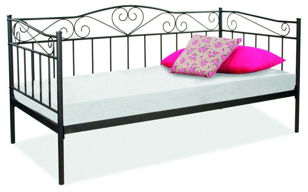 łóżko Birma 90x200 Czarne