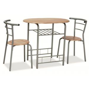 Zestaw Gabo stół z dwoma krzesłami - Dąb sonoma